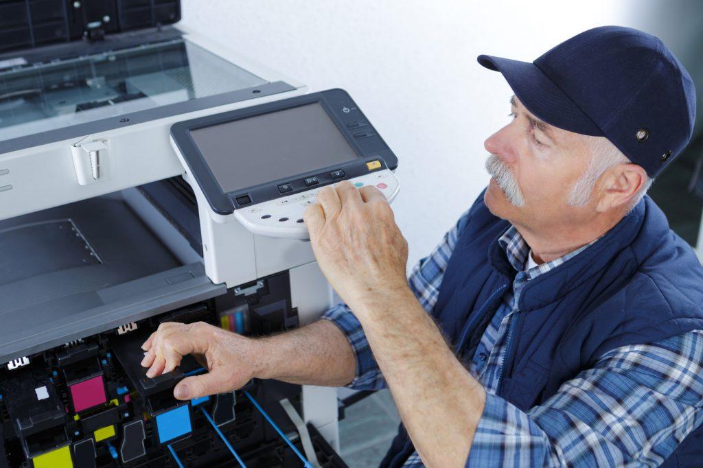 Techniker vor-Ort-Reparatur Service Kopierer Drucker Scanner Fax MFP