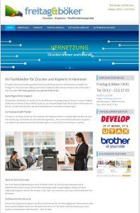 Die neue Webseite zeigt alle Serviceleistungen von Freitag & Böker nutzerfreundlich auf